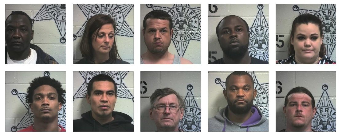 meth, burglary and other arrests in Attala/Leake County