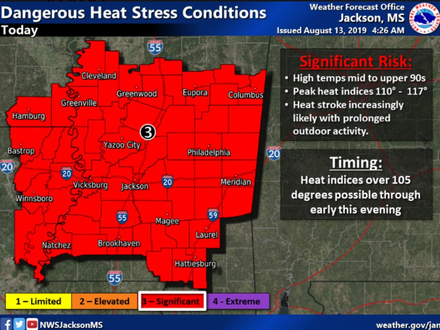 Dangerous heat continues to plague Mississippi (audio