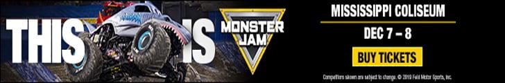 https://www.monsterjam.com/en-US/events/jackson-ms/dec-07-2019-dec-08-2019?gclid=EAIaIQobChMIiqWfgZqG5gIVh7zACh32owmSEAAYASAAEgJG1fD_BwE&gclsrc=aw.ds